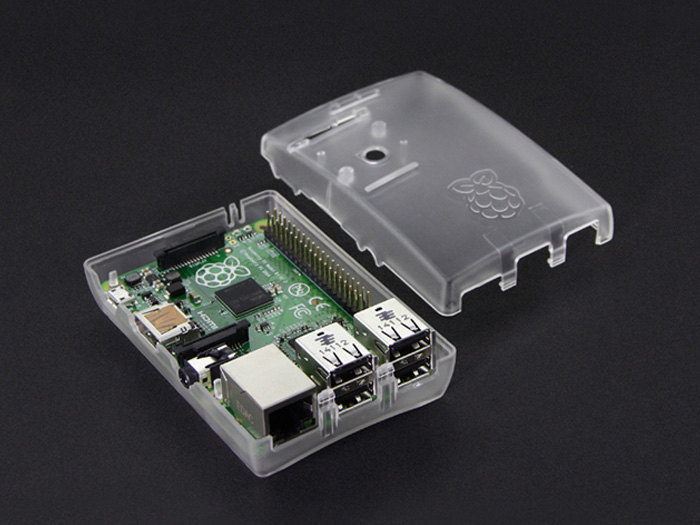 Raspberry Pi B+&2 Arc Enclosure - Transparent